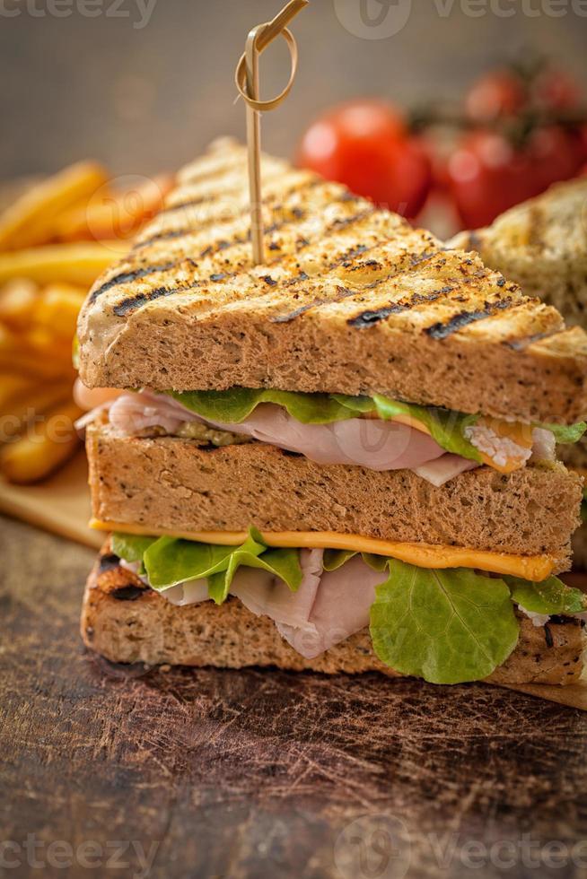 klassisches Club Sandwich foto