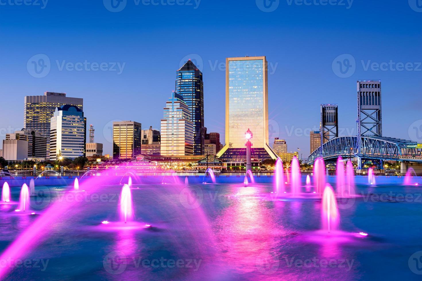 Jacksonville, Florida Innenstadt Skyline. foto