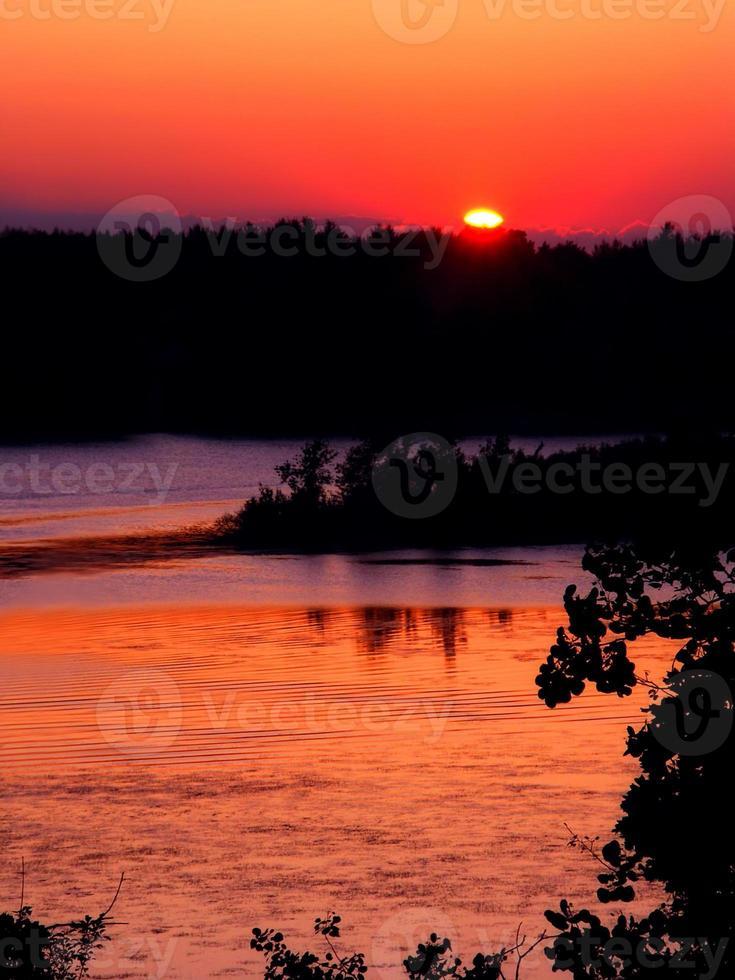 Kessel Moräne Wisconsin Sonnenuntergang foto