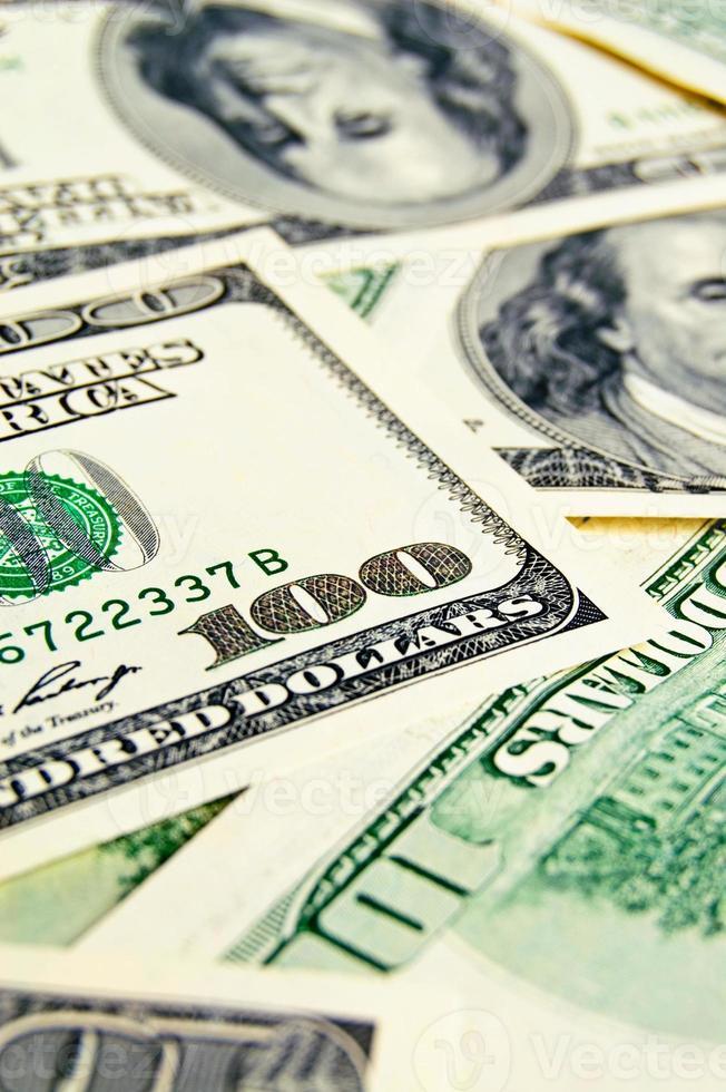 Nahaufnahme Geld Dollar Hintergrund foto