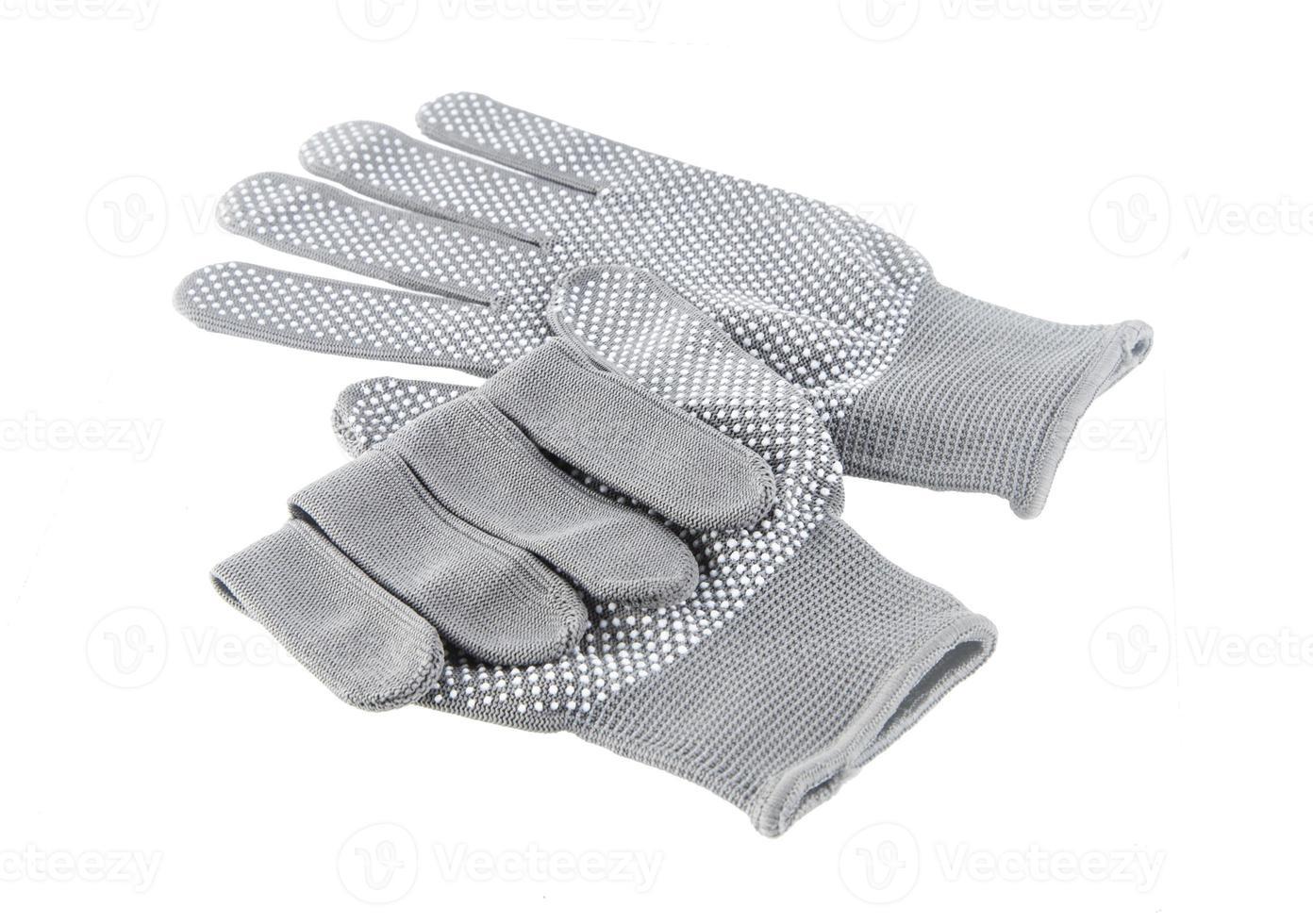 Paar Handschuhe isoliert auf weiß foto