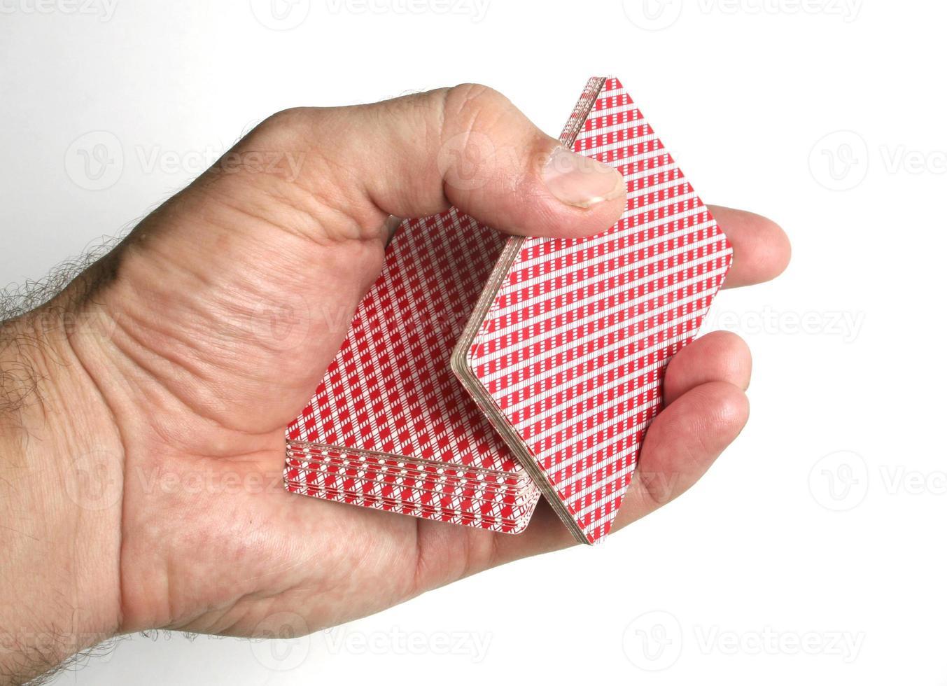 Spielkarten Tricks konzentriert foto