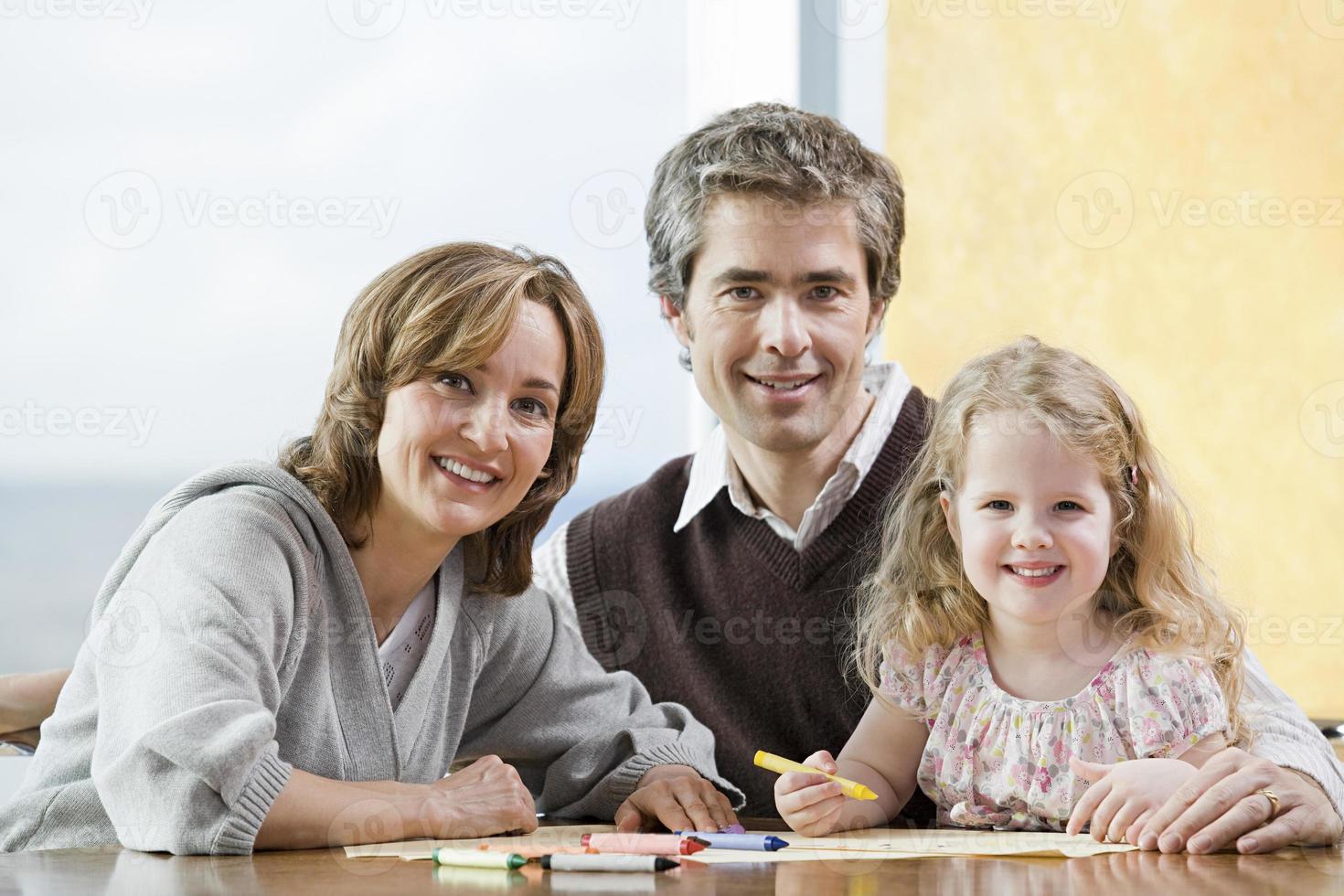 Porträt eines Vaters und einer Tochter foto
