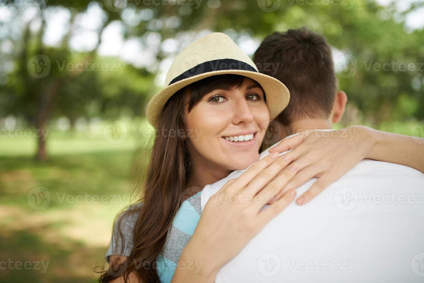 Glückliche Frau foto