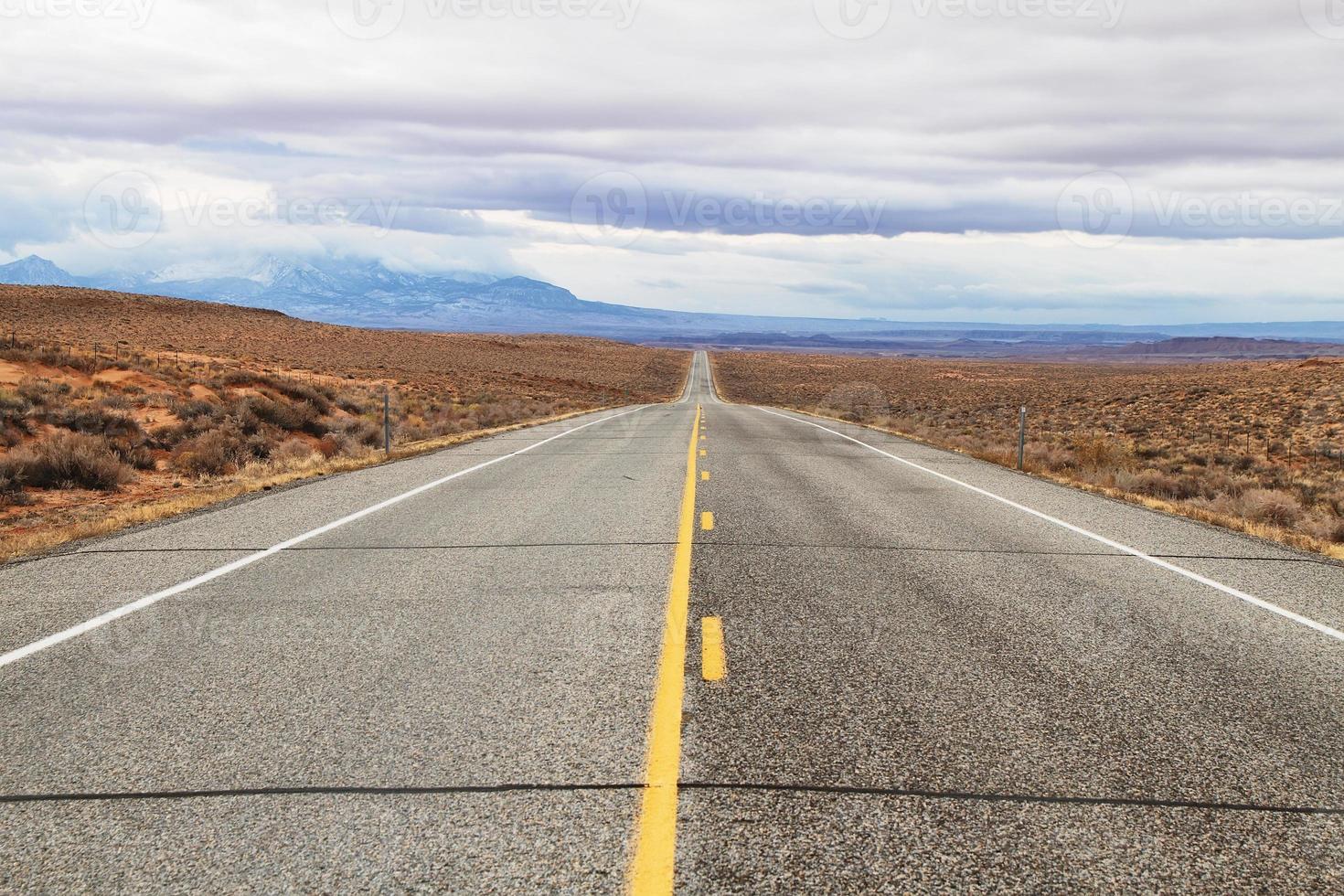 malerische Straße 24, Zentral-Utah, USA foto