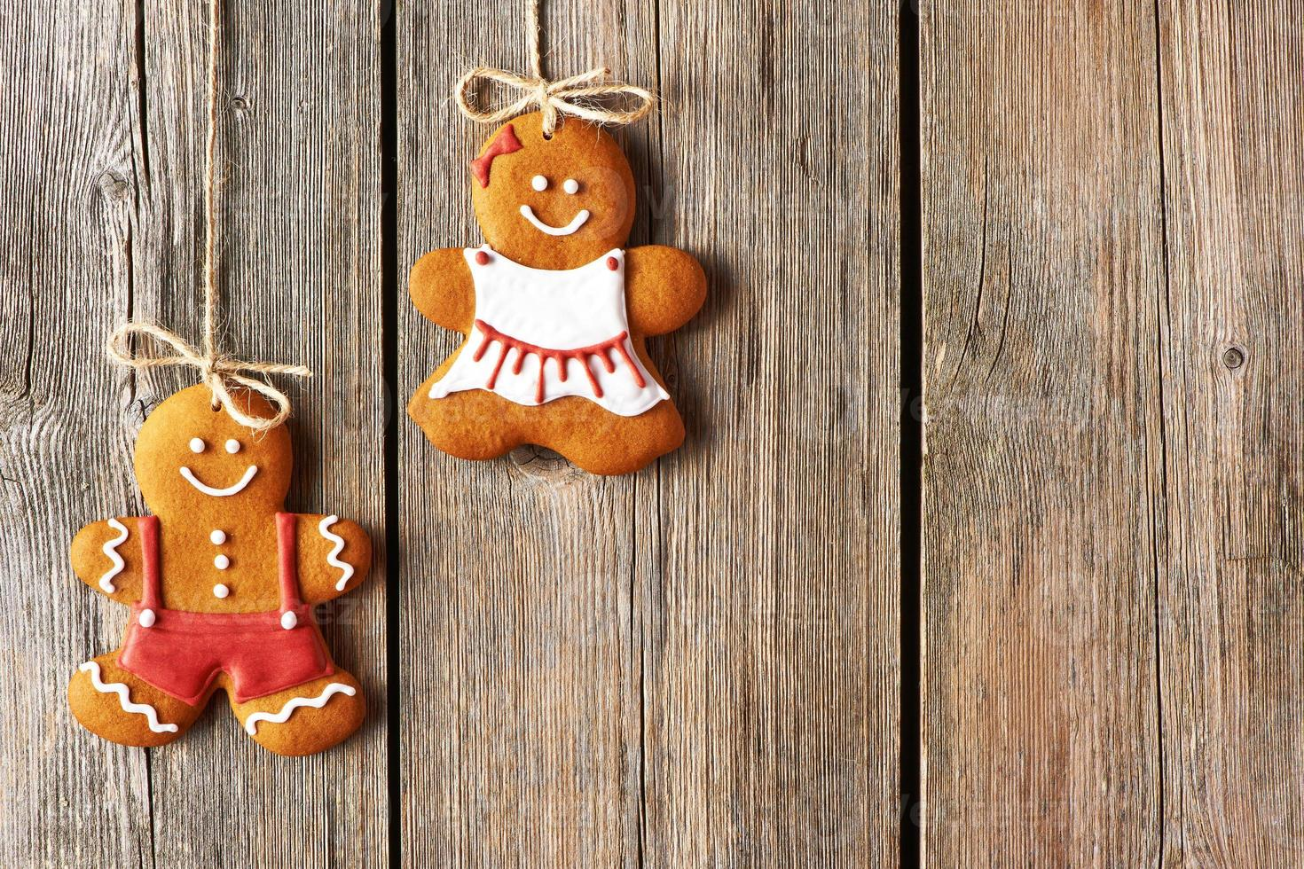 Weihnachten hausgemachte Lebkuchenpaar Kekse foto
