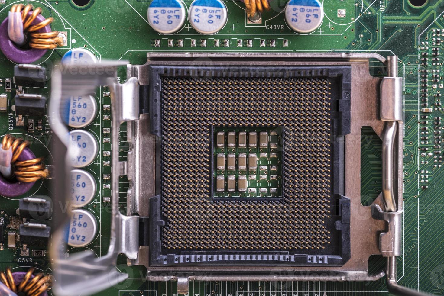 Sockel der Computer-Zentraleinheit foto