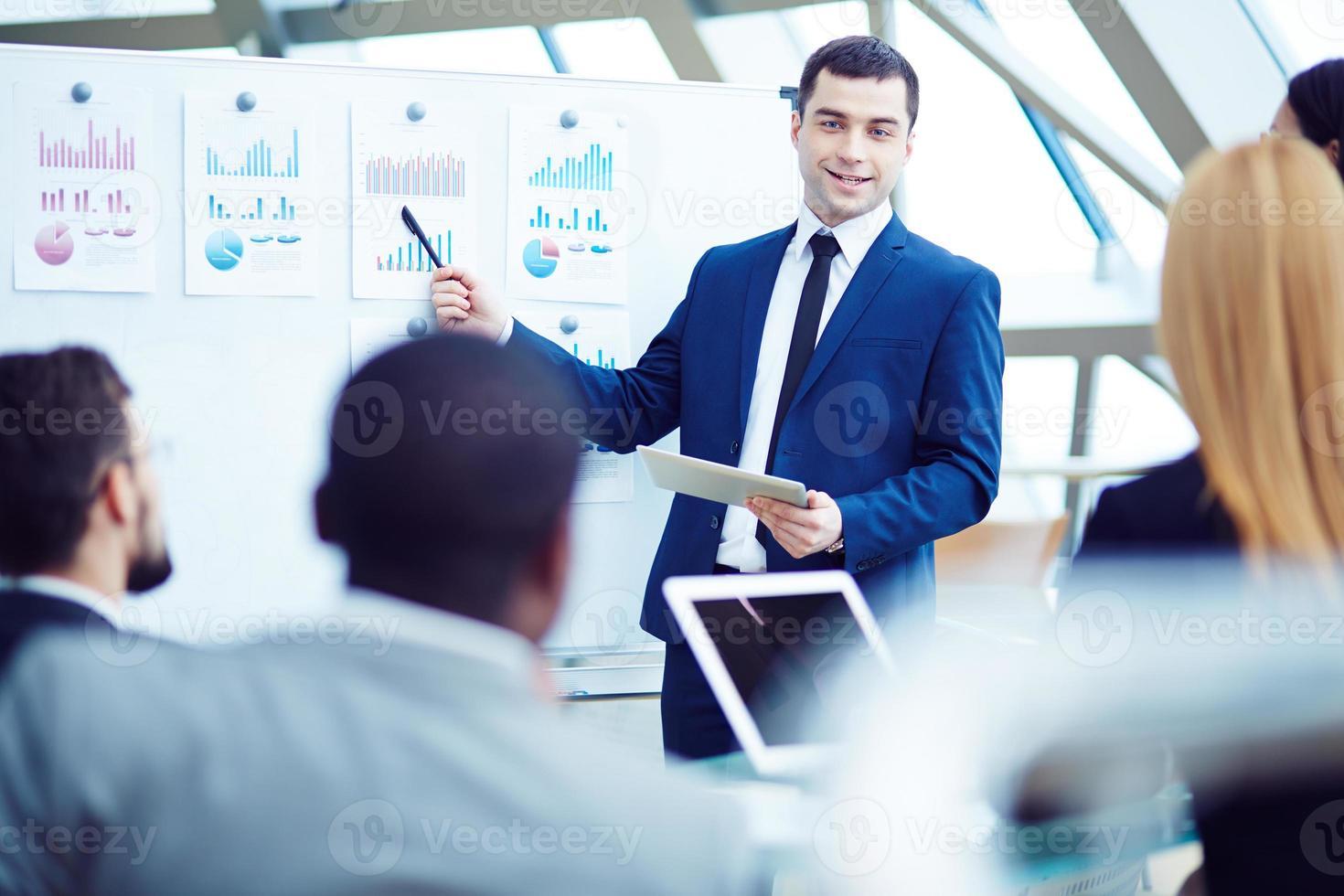 Treffen mit dem Manager foto