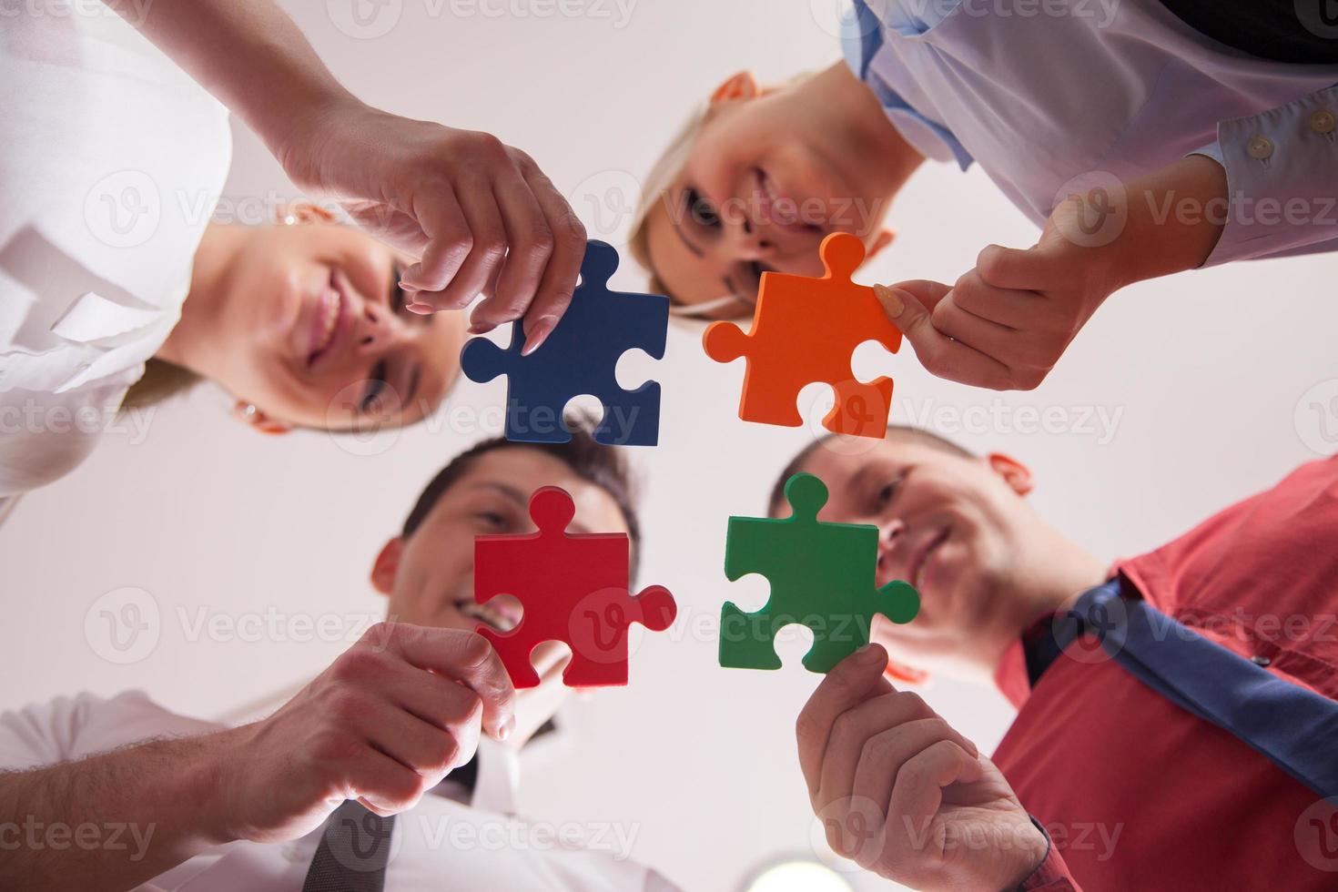 Geschäftspuzzle foto