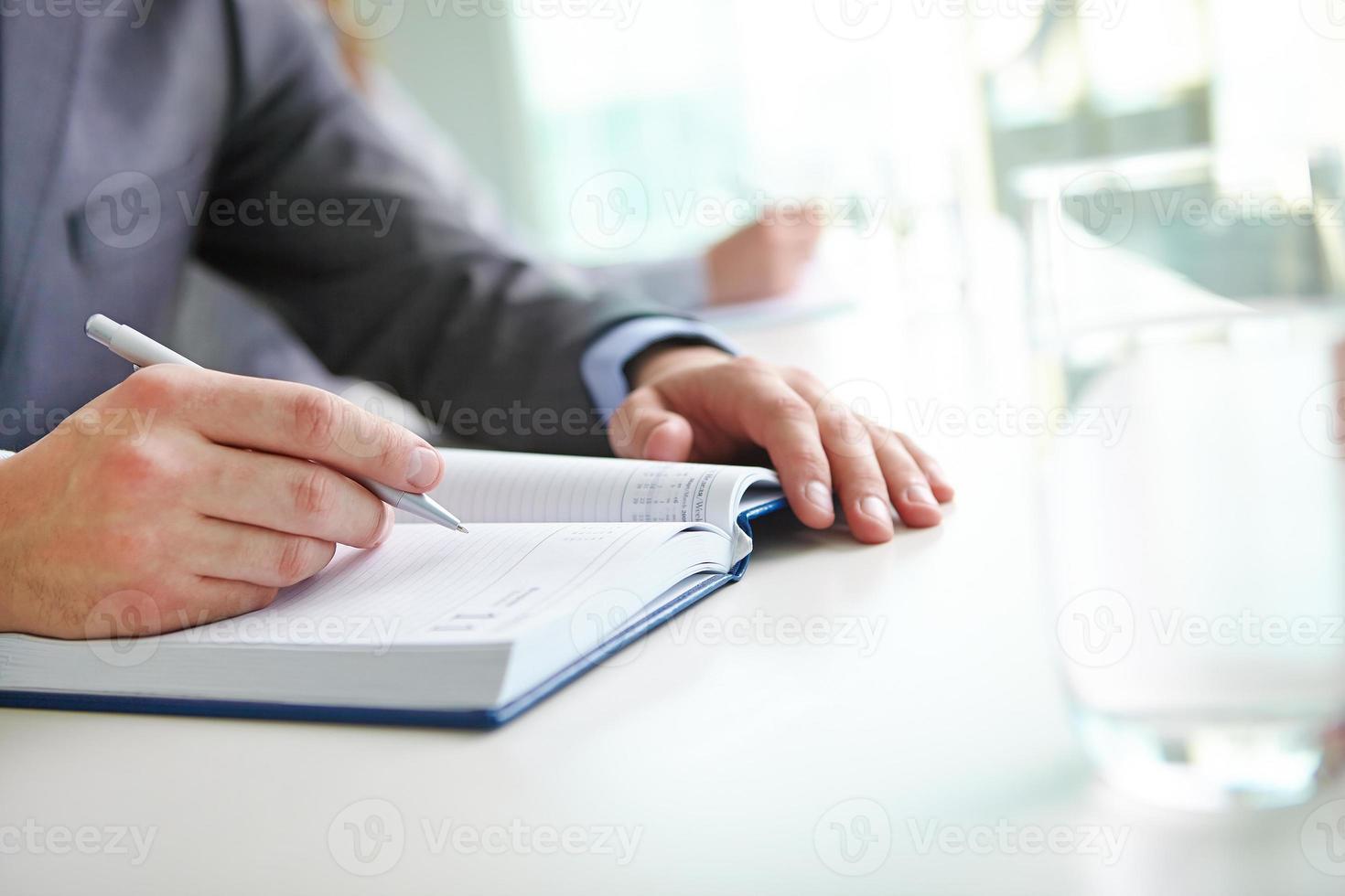 Notizen oder Plan schreiben foto