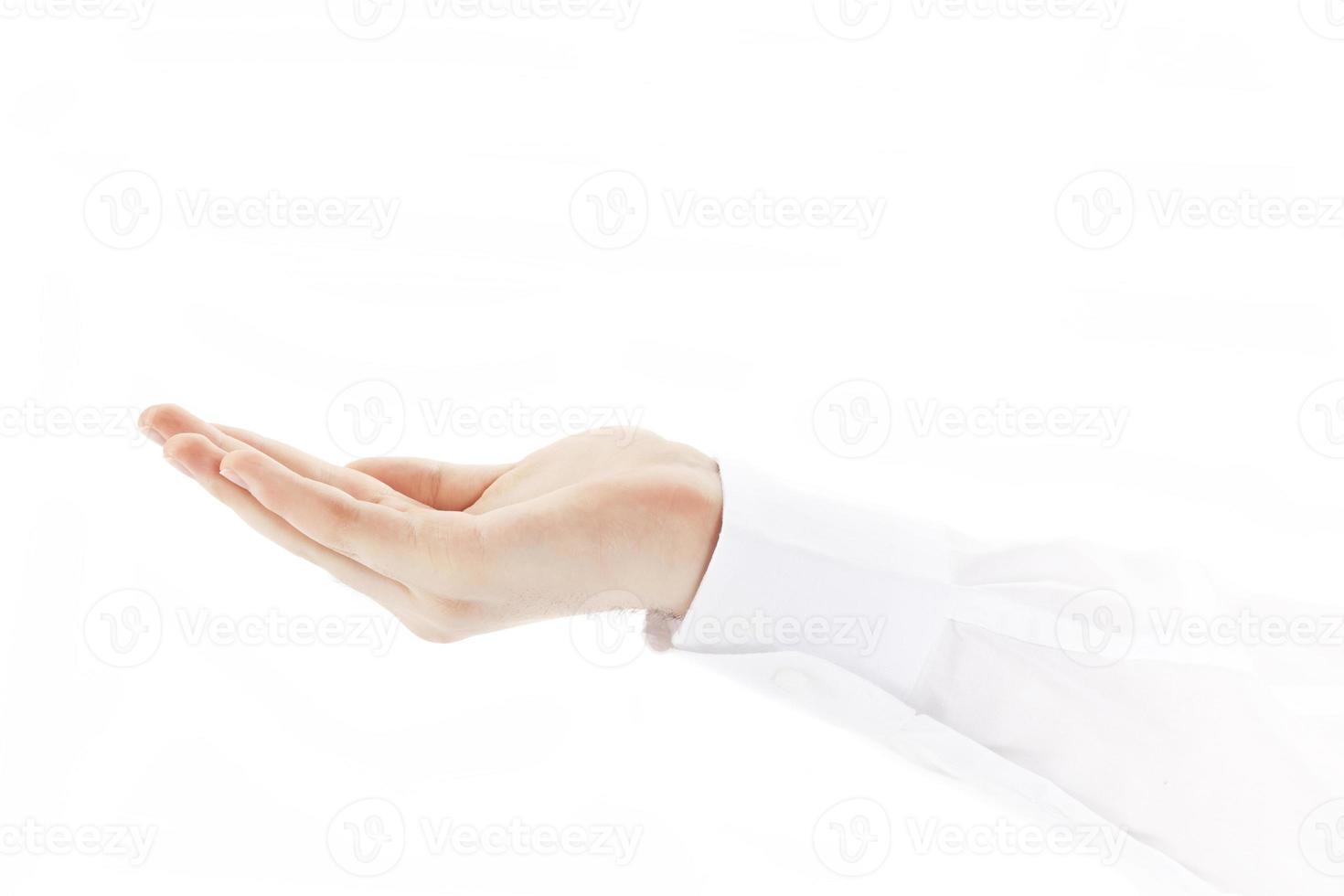 leere Handfläche foto