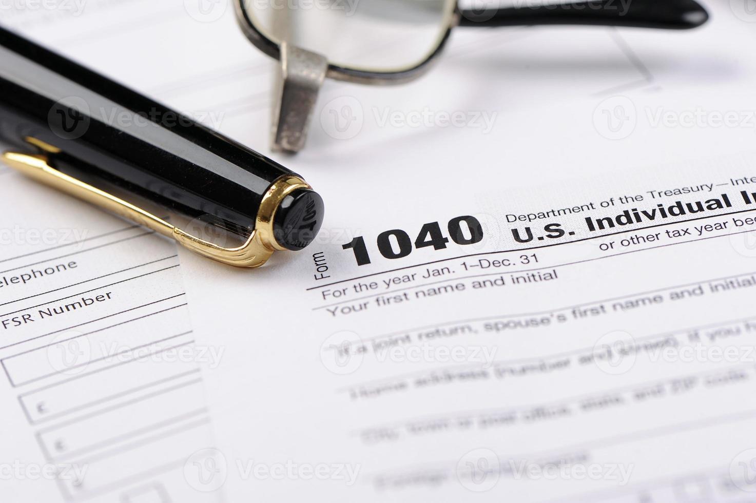 Einkommenssteuer foto