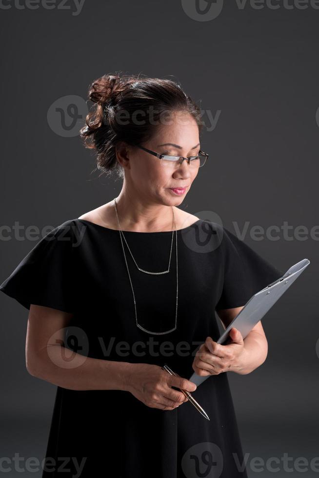reife Geschäftsfrau foto
