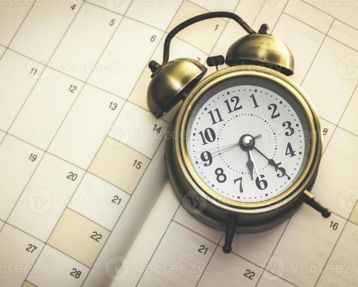 Zeit und Planer foto