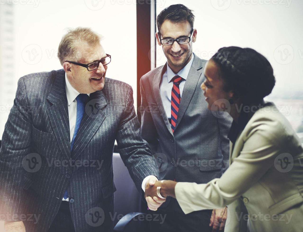 Business Peope Handshake Gruß Deal Konzept foto