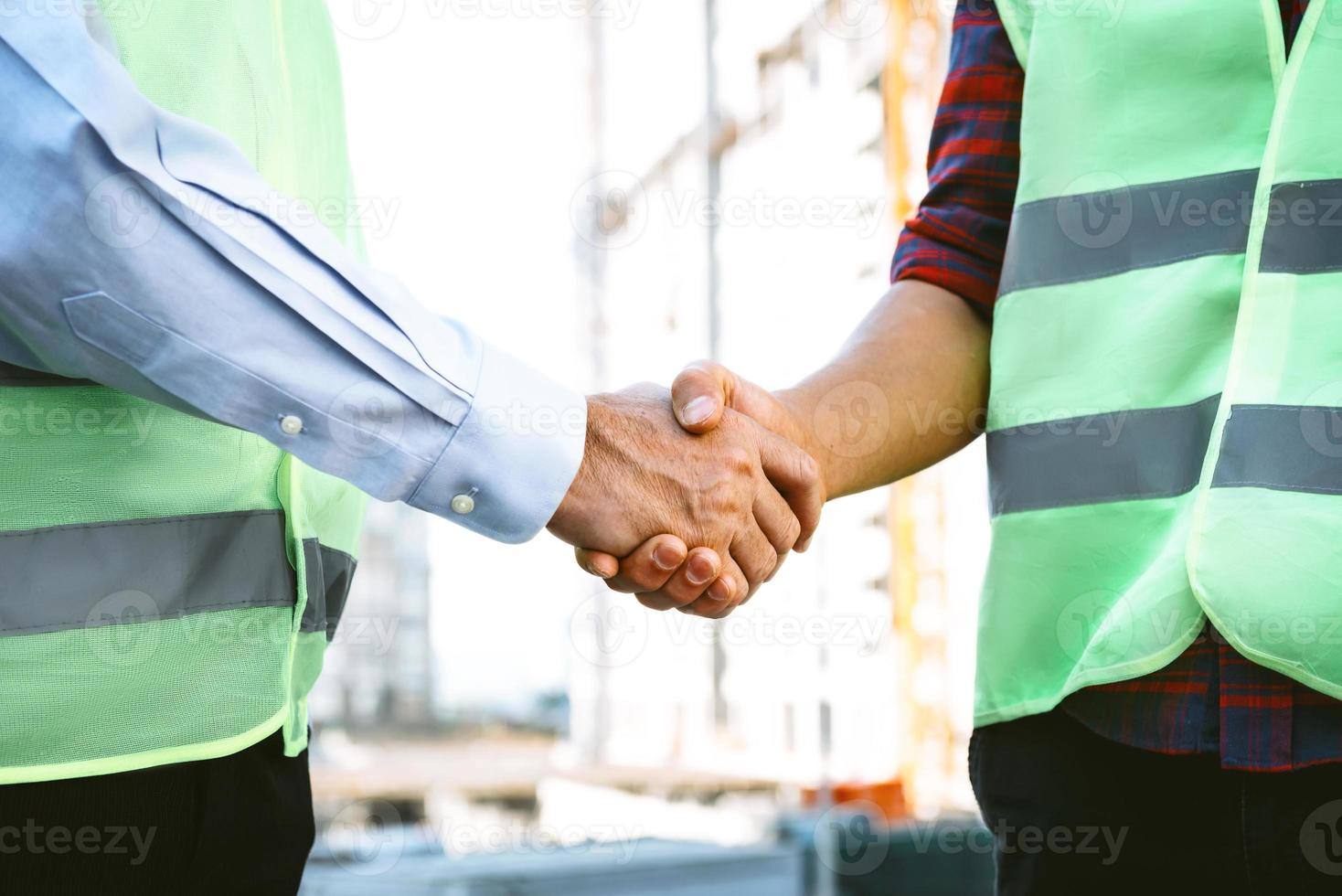 Konzept für professionelle Bauunternehmer oder Architekten foto