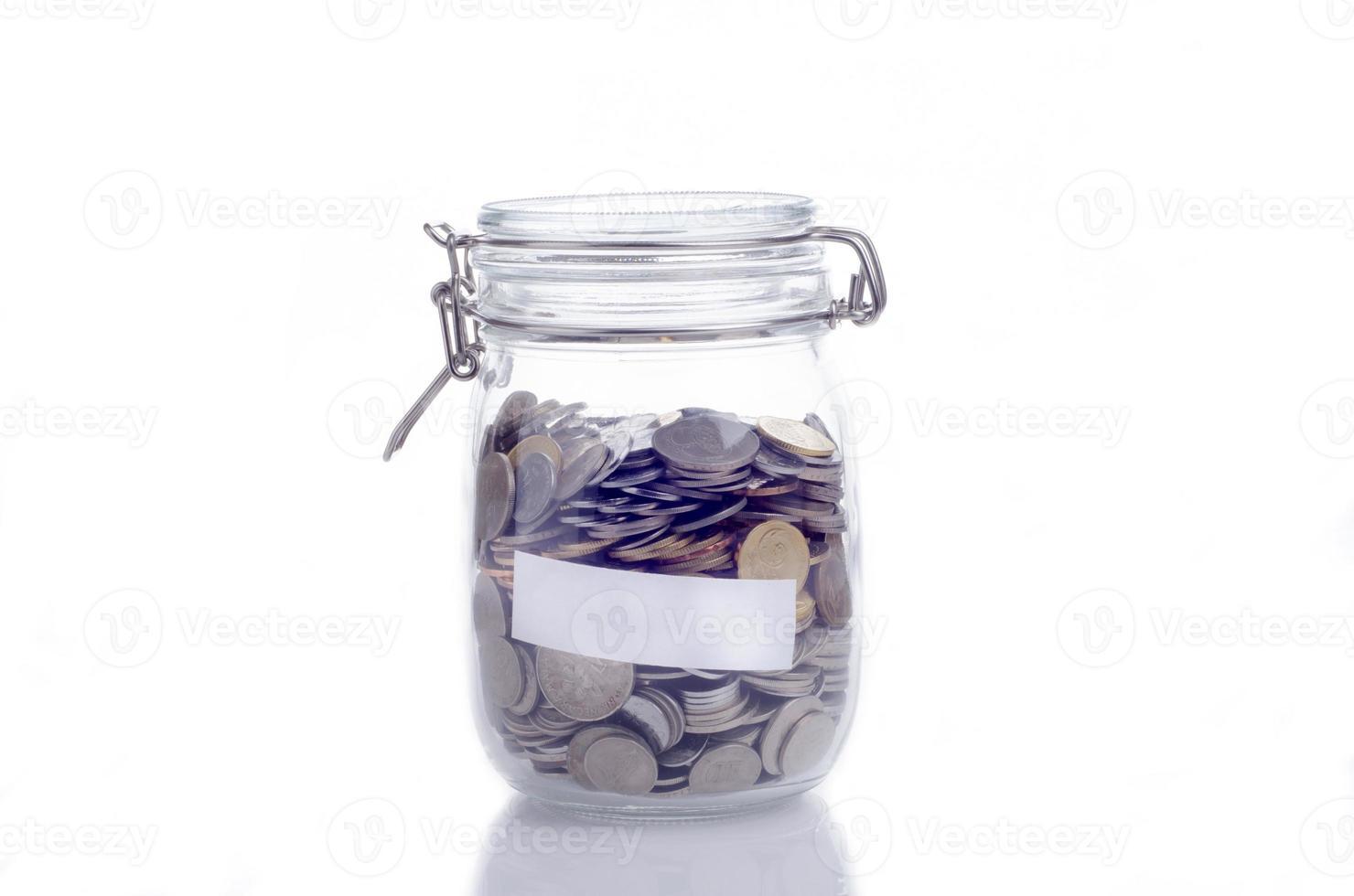 Gläser mit Münzen foto