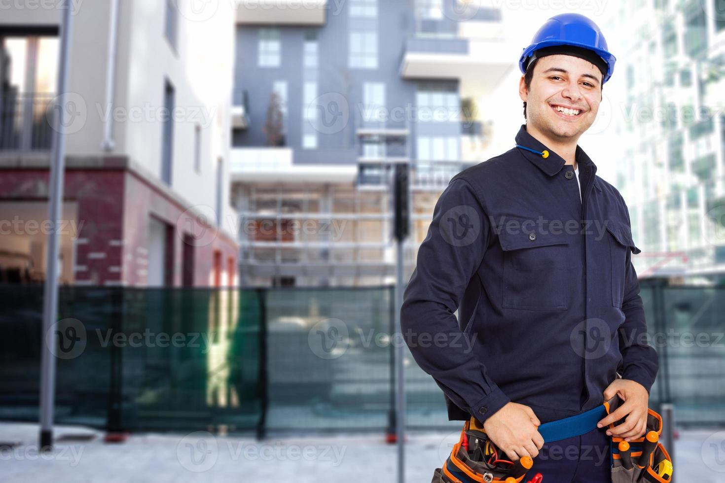 Ingenieur in einer Fabrik foto