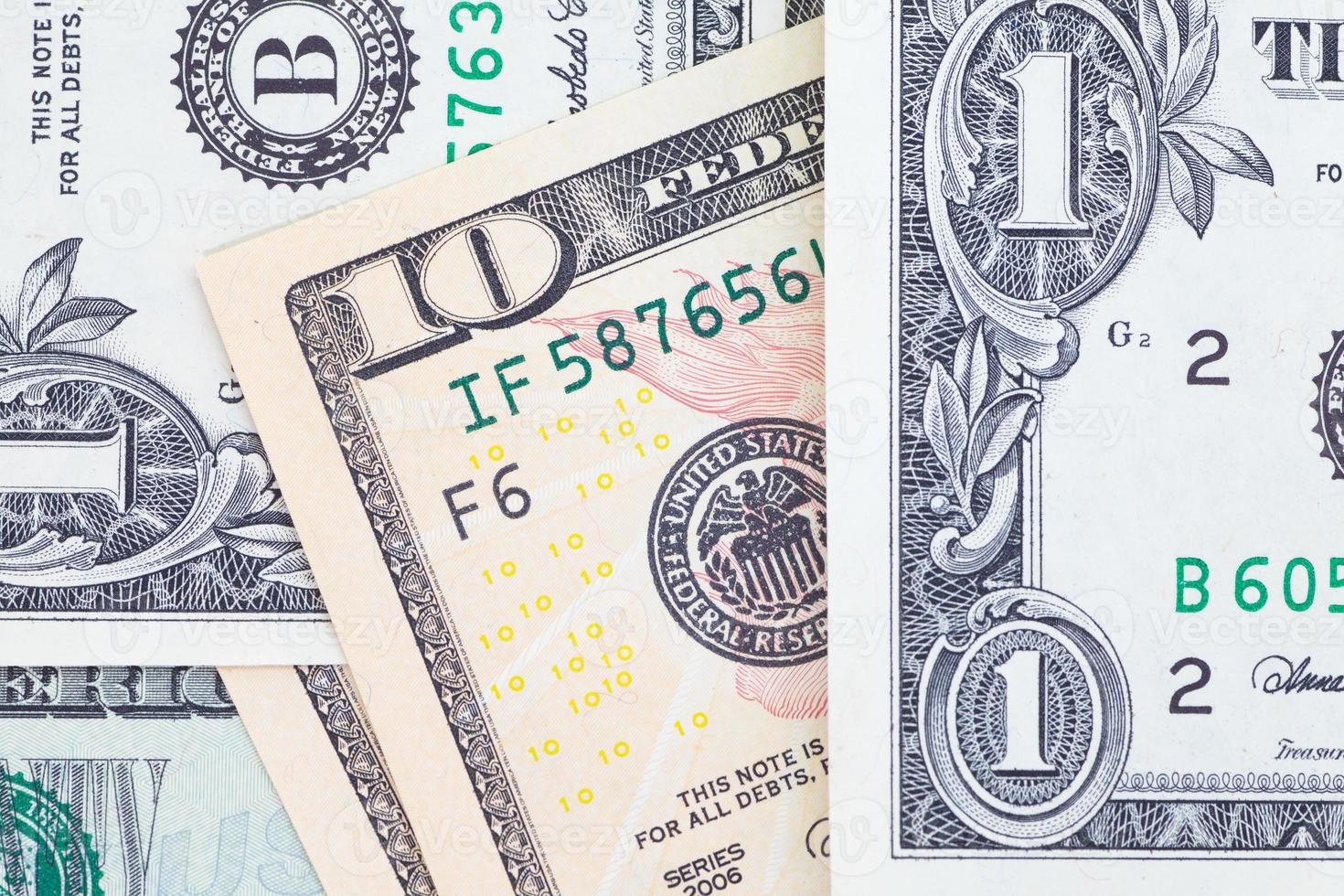 Dollar-Banknoten für Geschäfts- und Finanzkonzept foto