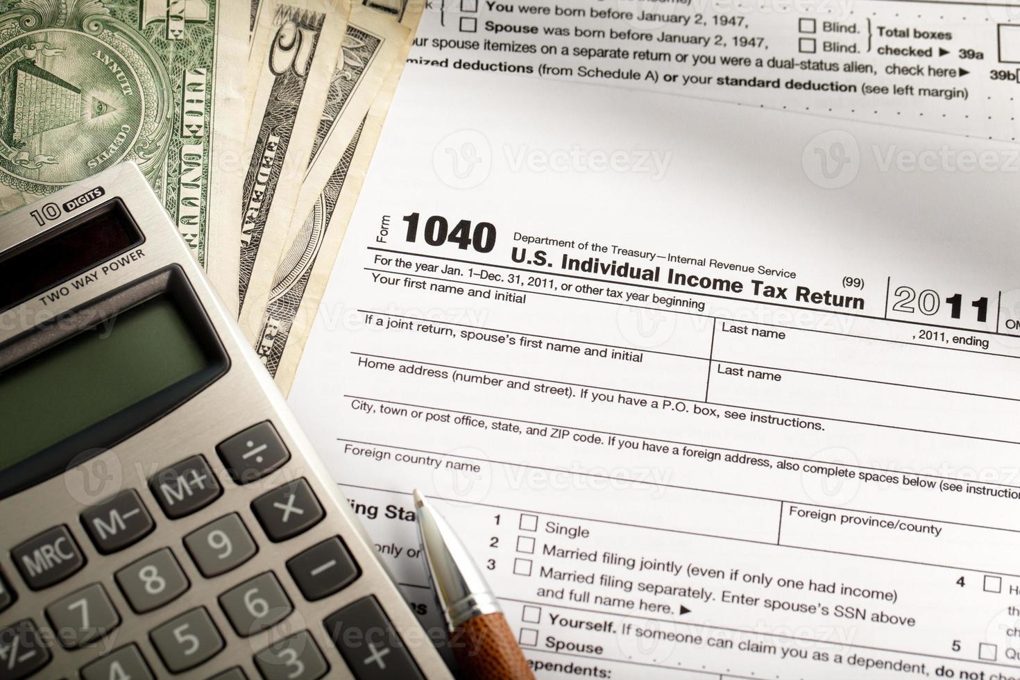 Einkommensteuerformular foto
