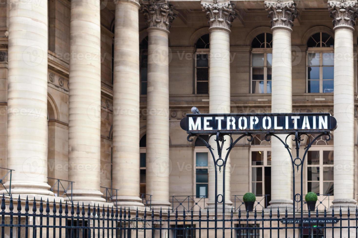 Metropolitain-Zeichen foto