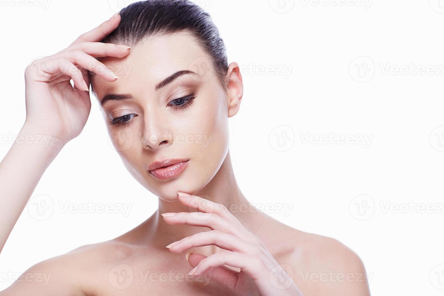 Schönheitsporträt. schöne Spa Frau foto