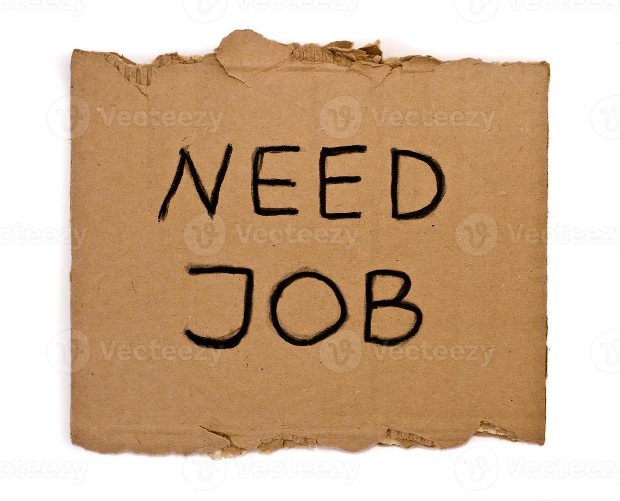 brauche einen Job foto