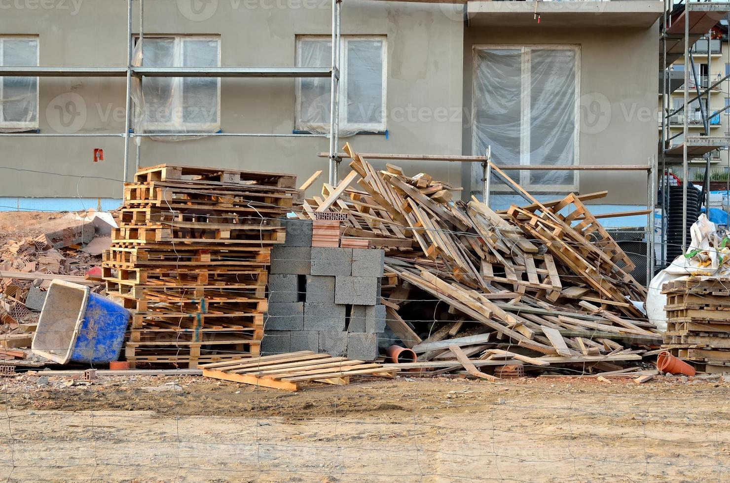 Wohnblock im Bau. foto