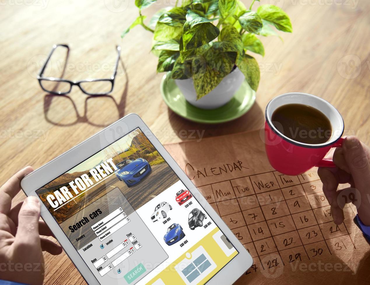 digitale Online-Suche Autovermietungskonzept foto