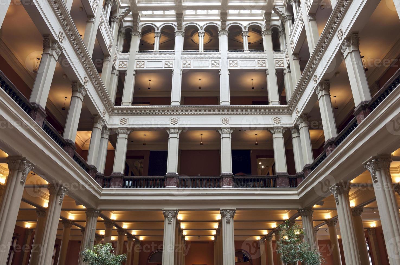 Innenhof des historischen Gebäudes in Saint Paul foto