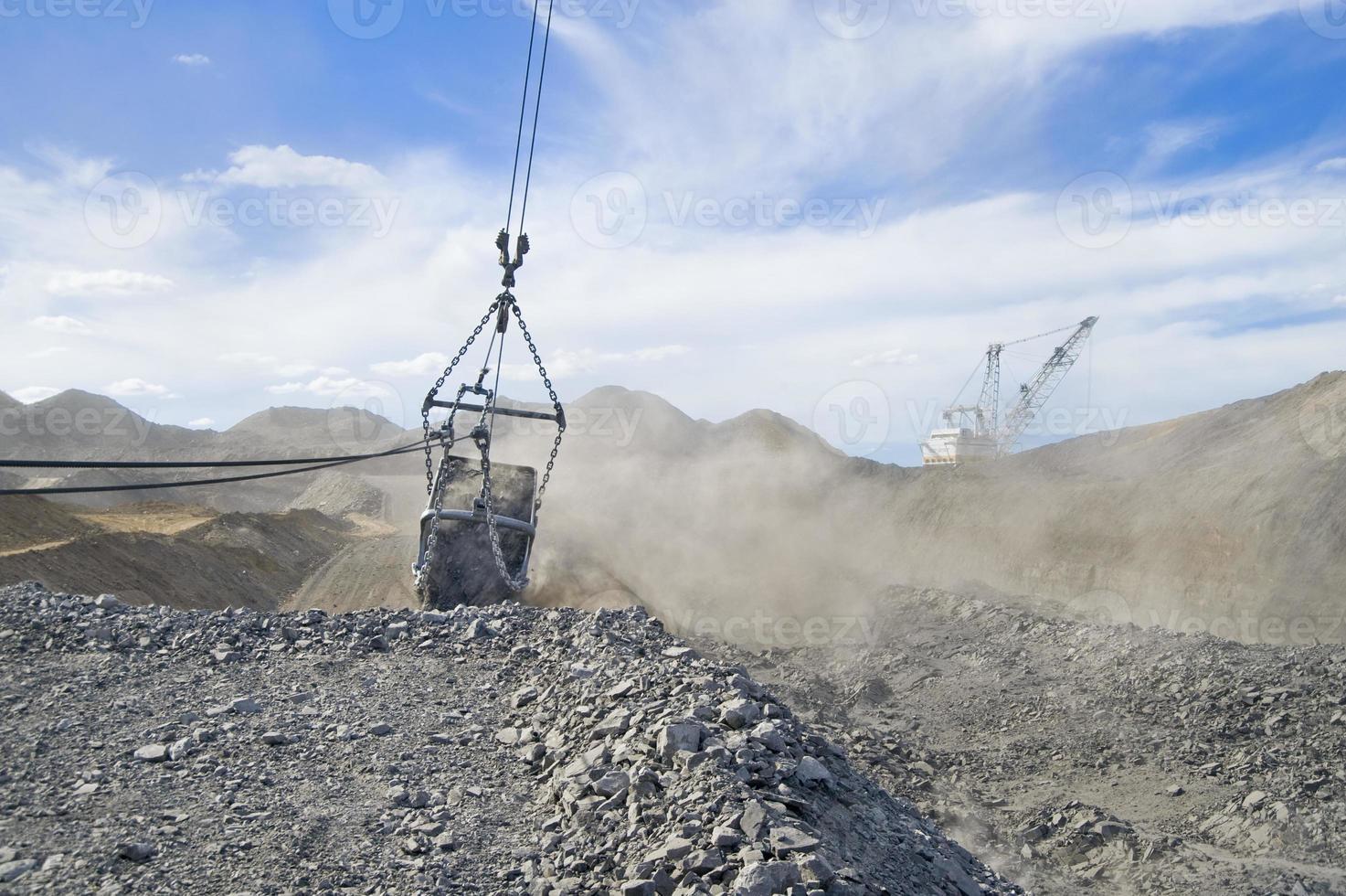 Bergbau Dragline und Eimer foto