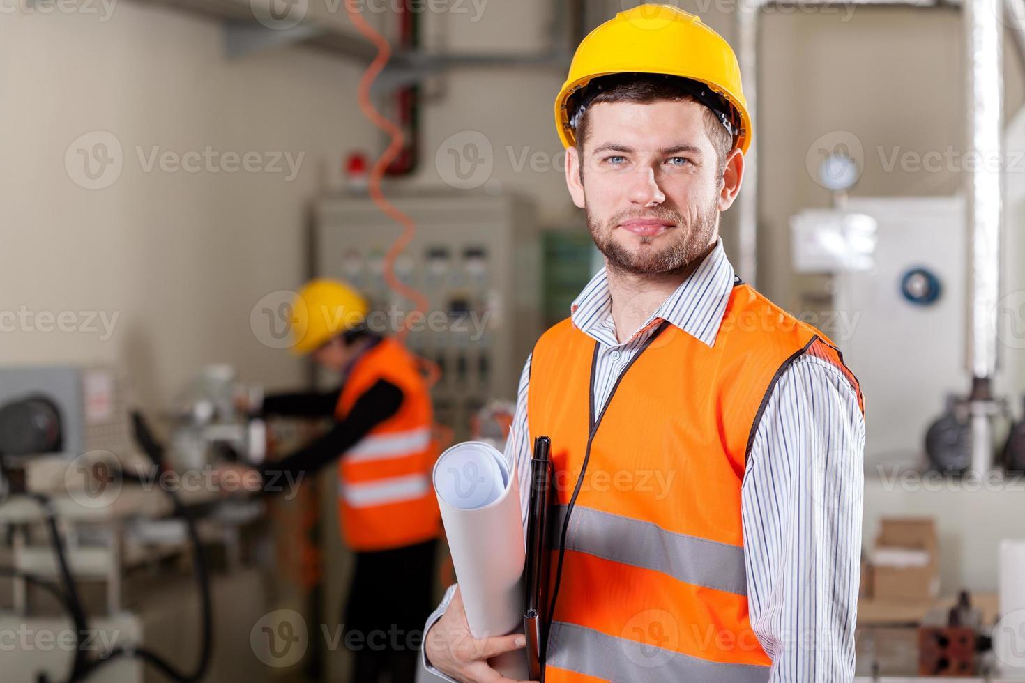 Projektleiter im Produktionsbereich foto