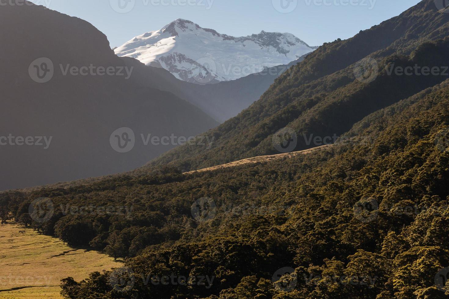 Berg aufstrebenden Nationalpark, Neuseeland foto
