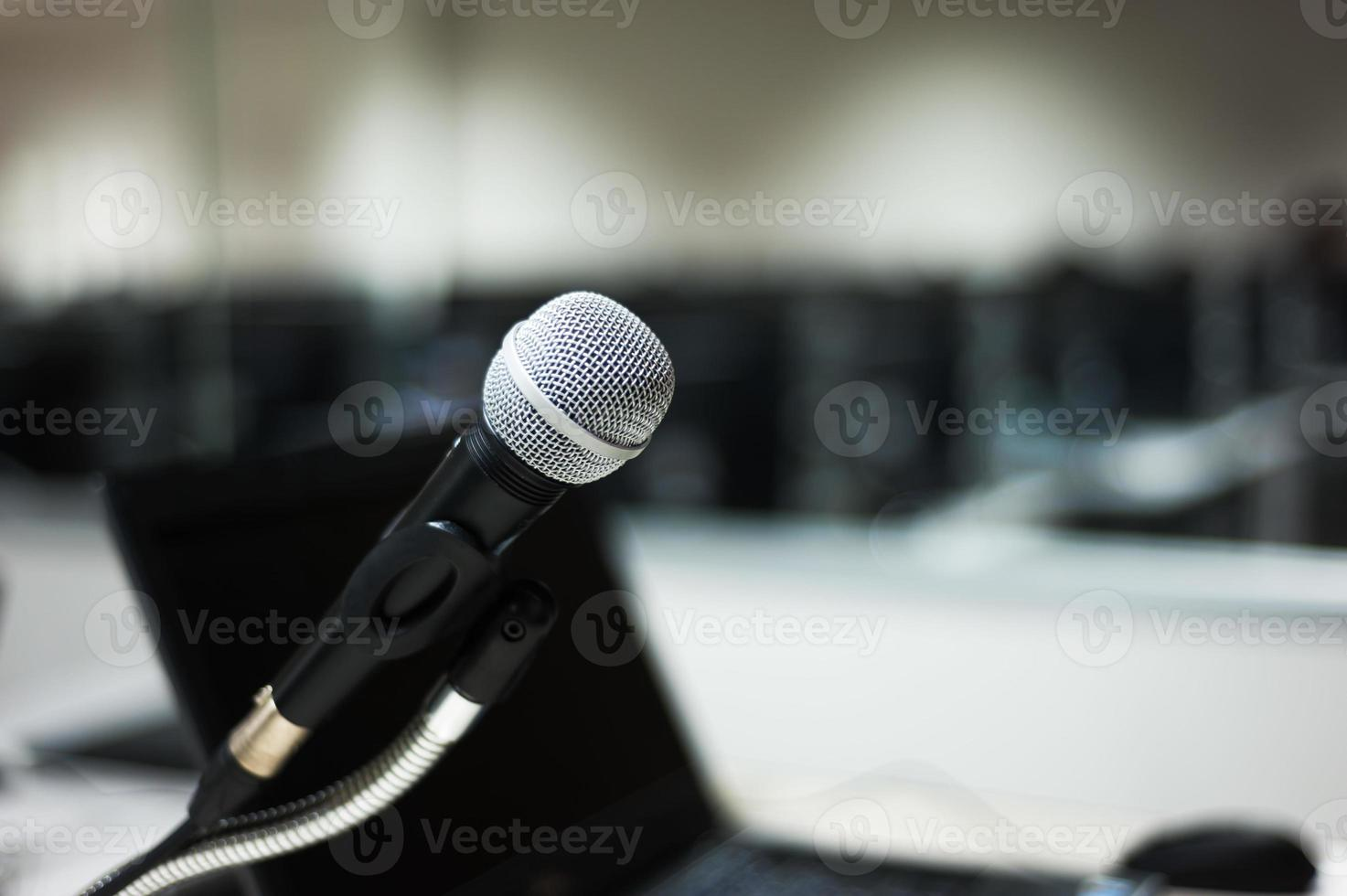 Mikrofon im Computerraum foto