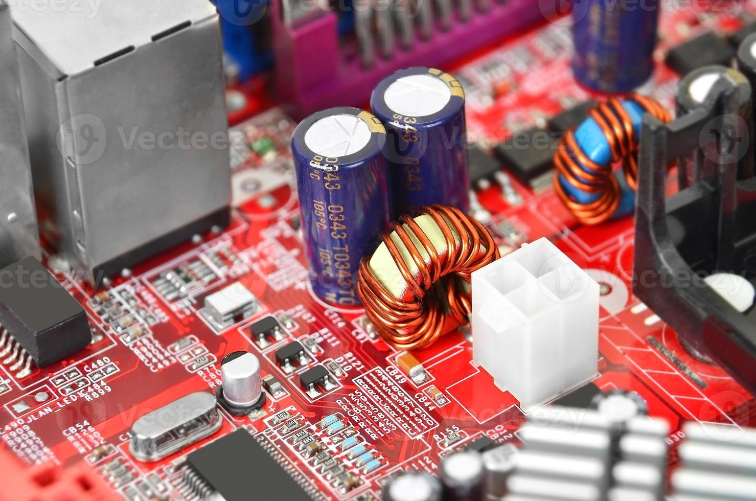 Computer Motherboard, dof foto