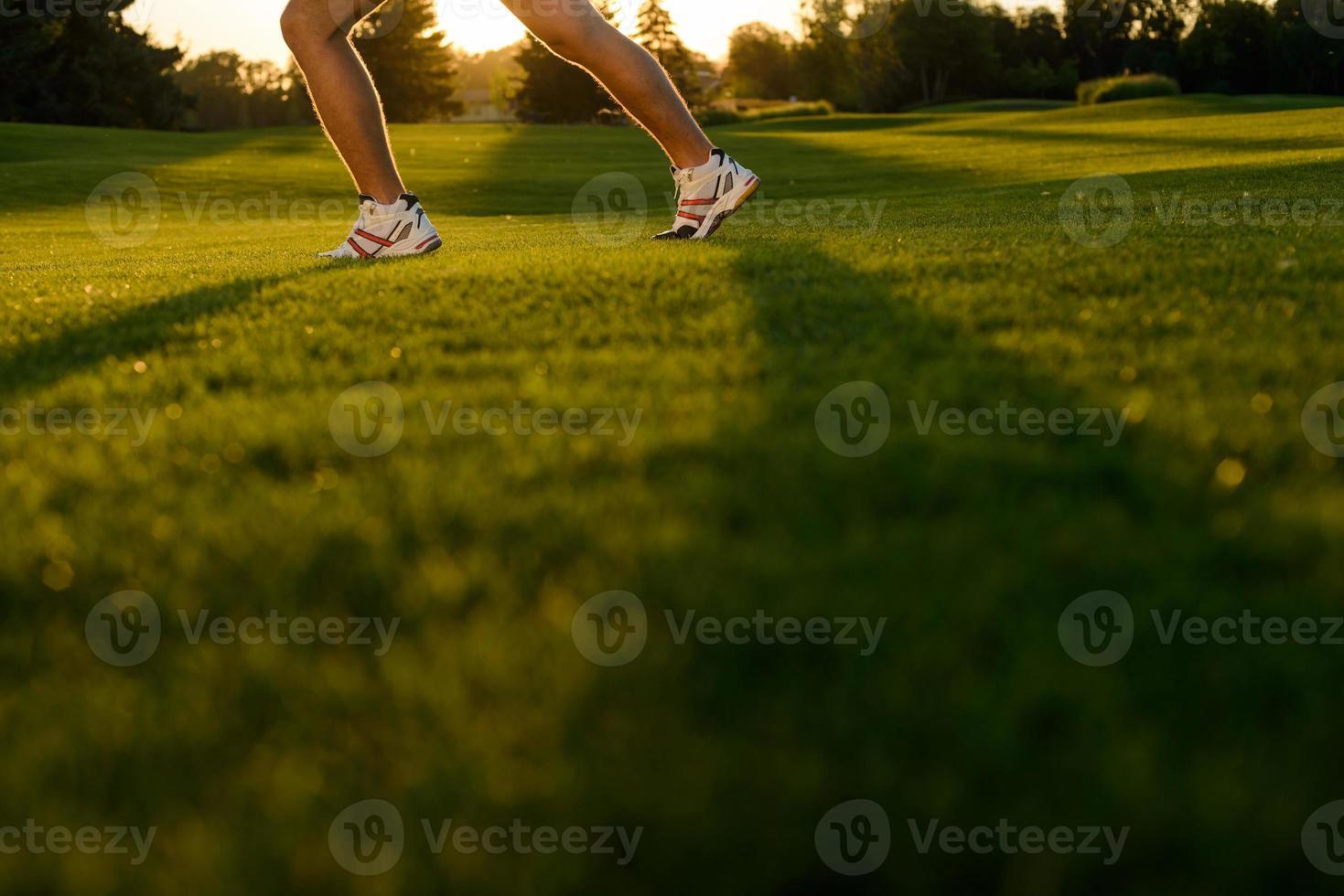 Beine des Athleten. foto