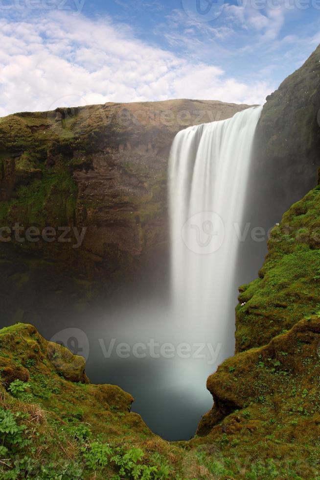 Island Wasserfall - Skogafoss foto