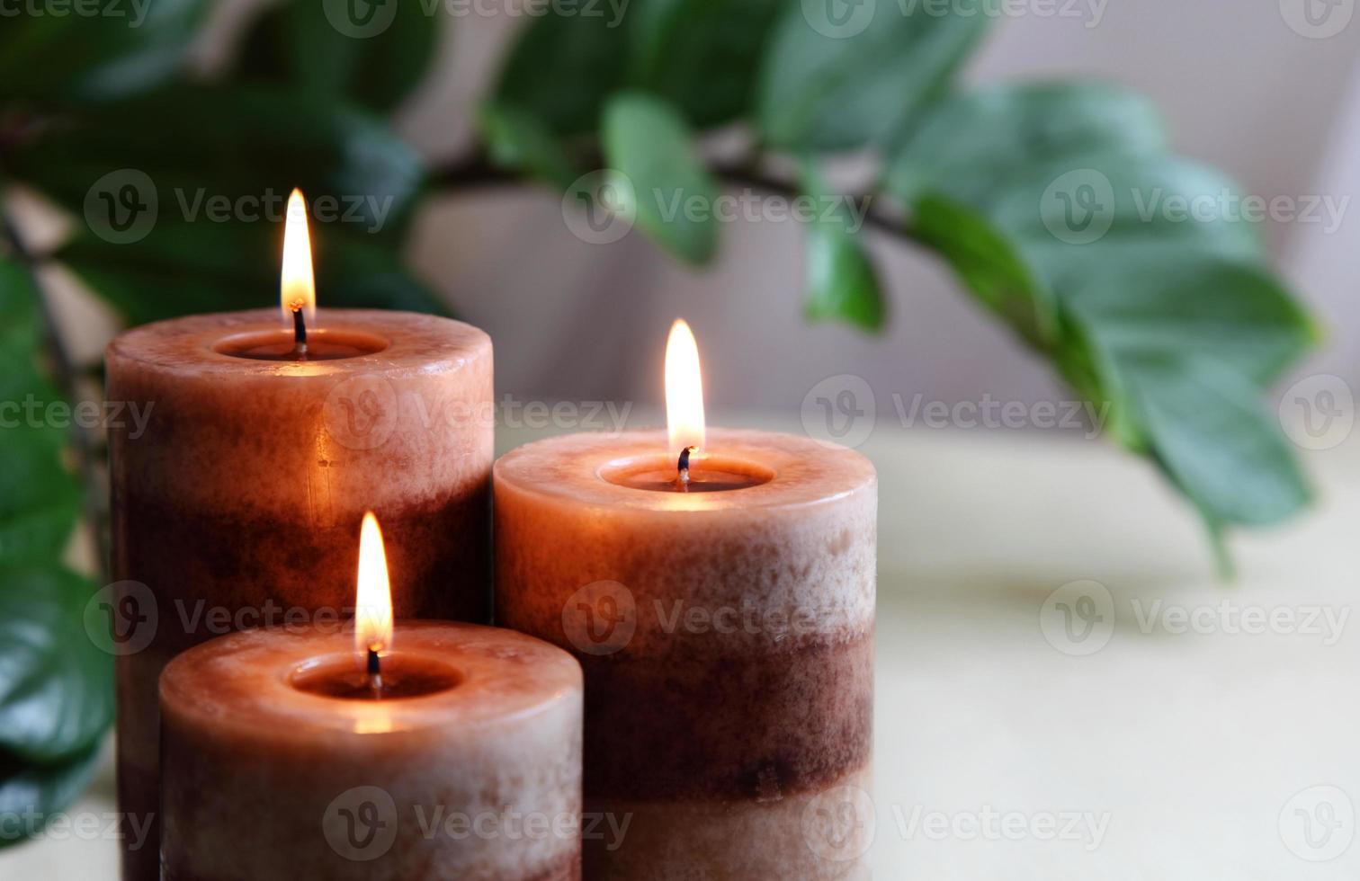Spa-Konzept Kerze foto