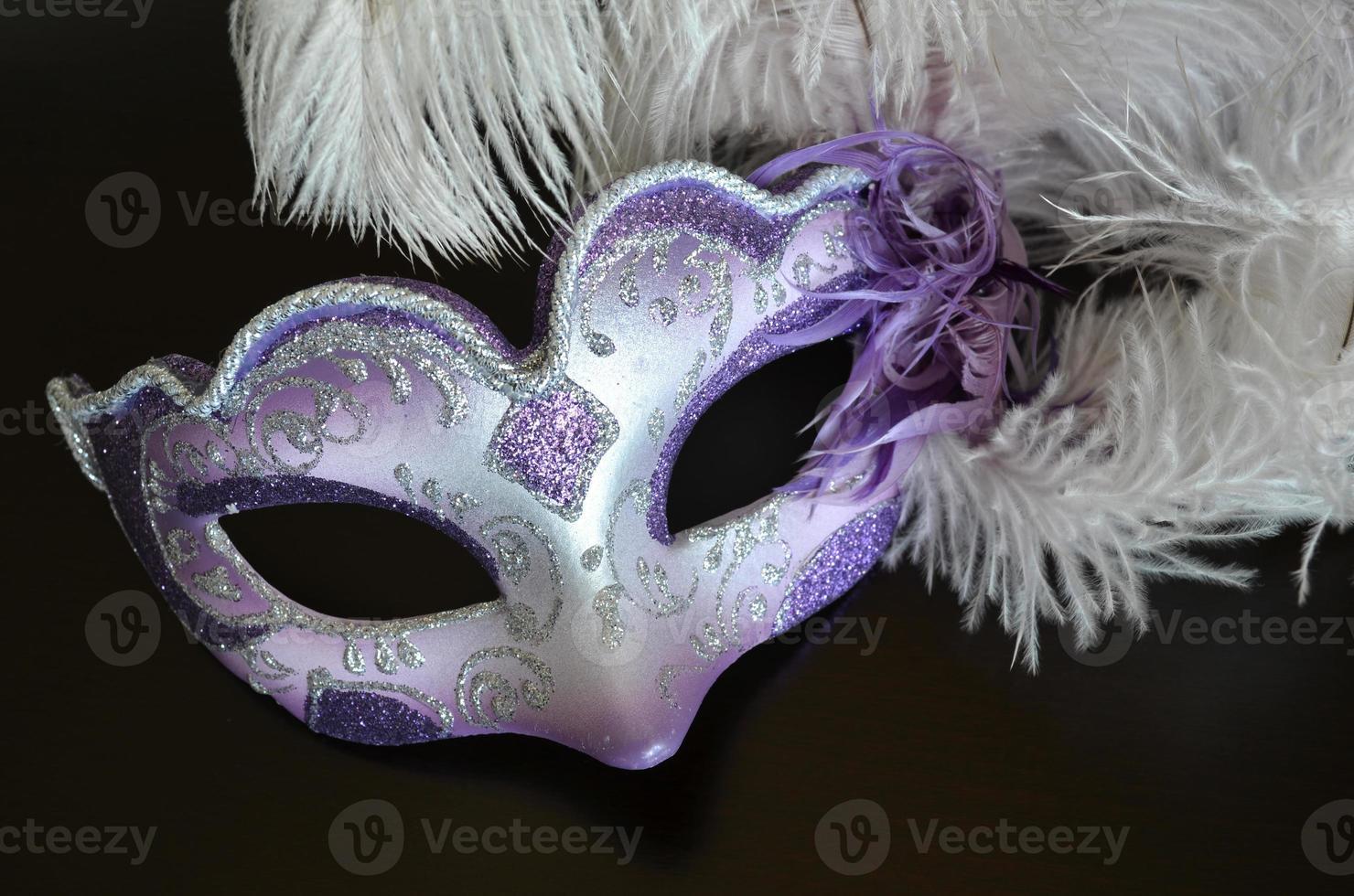 venezianische Maske mit Federn foto