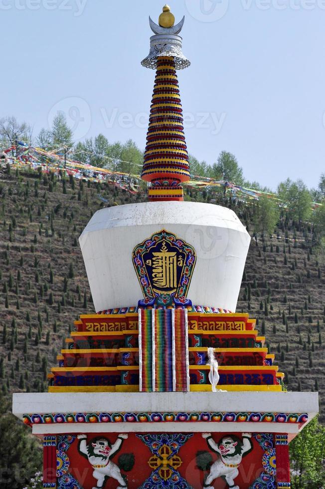 Pagode des tibetischen Buddhismus foto