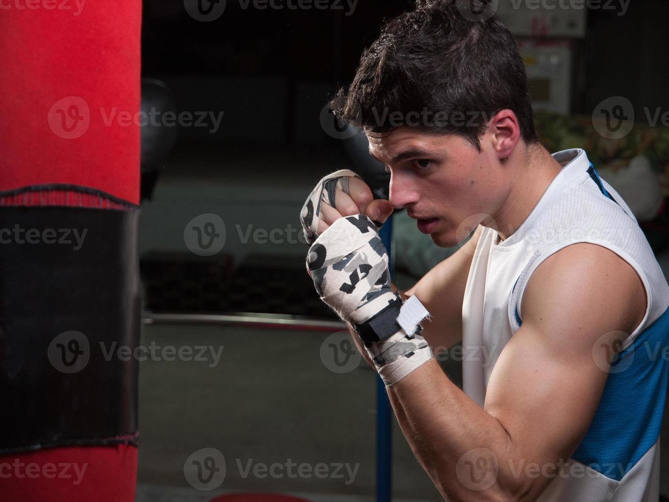 kaukasischer Boxermann foto