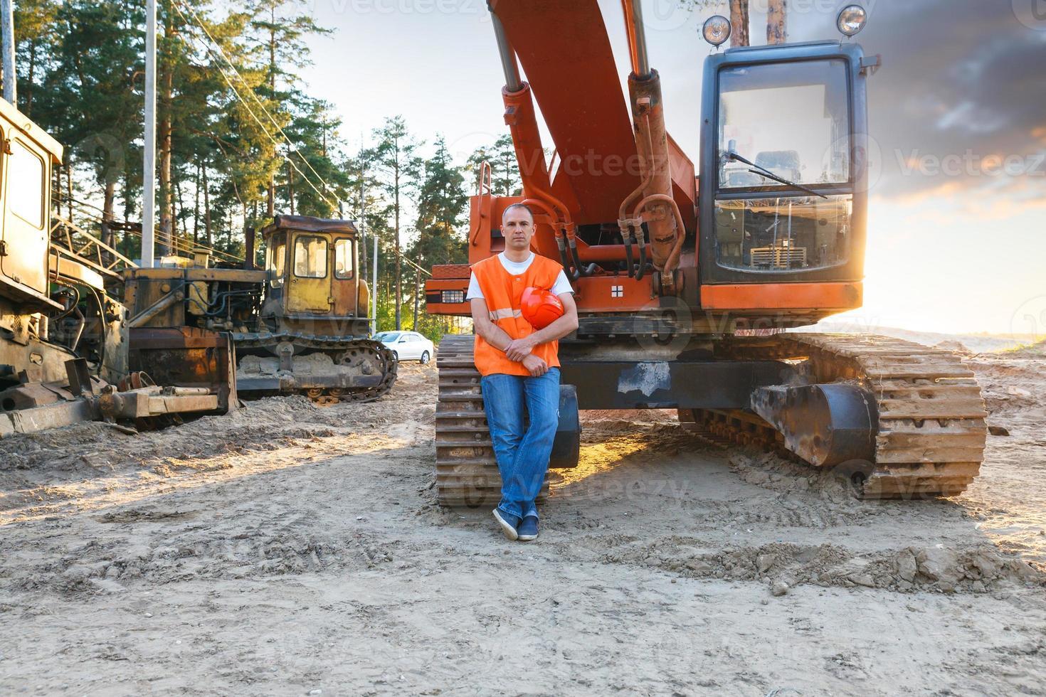 Porträt des arbeitenden Mannes foto