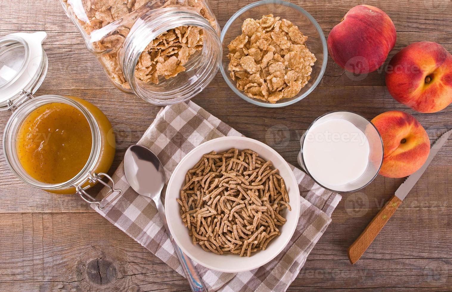 Frühstücks cerealien. foto
