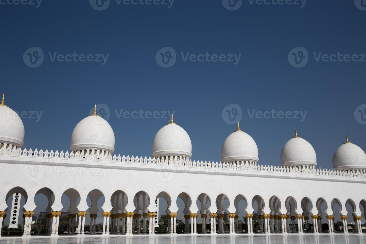 Scheich Zayed Moschee in Abu Dhabi foto