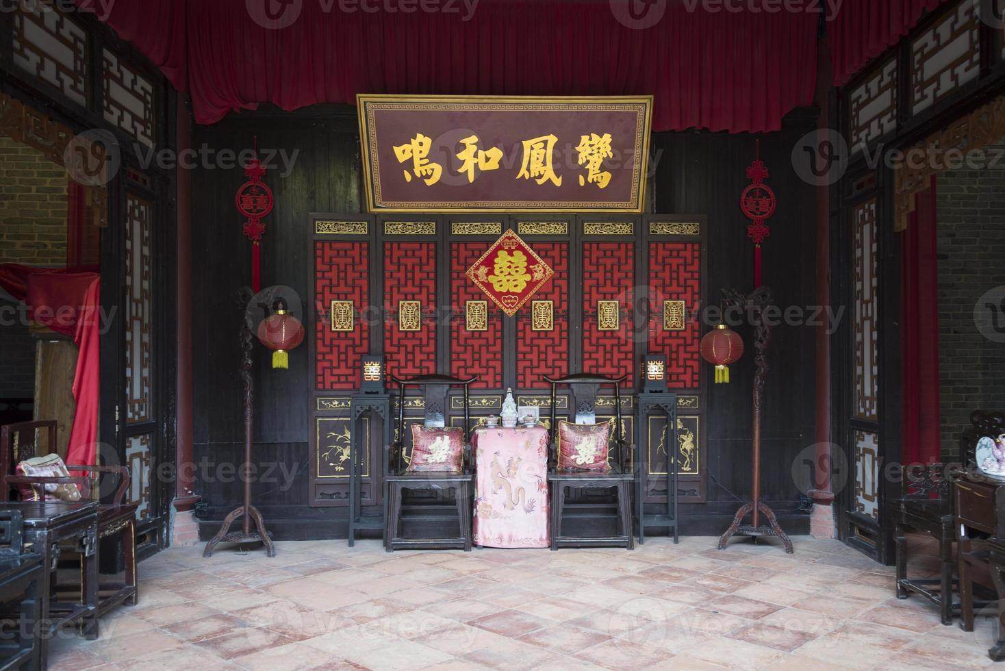 chinesische traditionelle Innenarchitektur foto