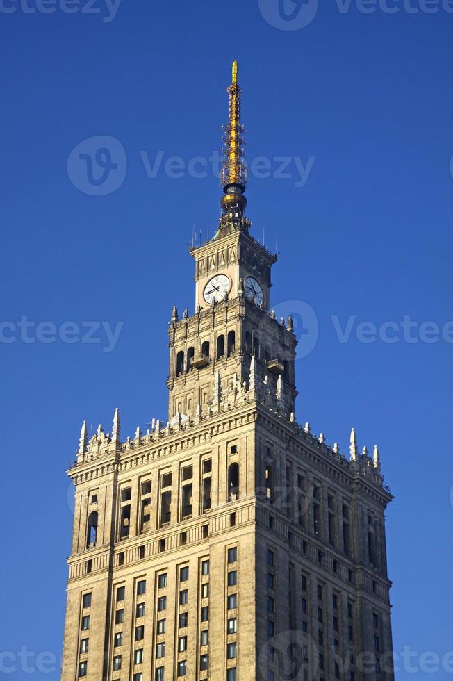 Palast der Kultur und Wissenschaft in Warschau foto