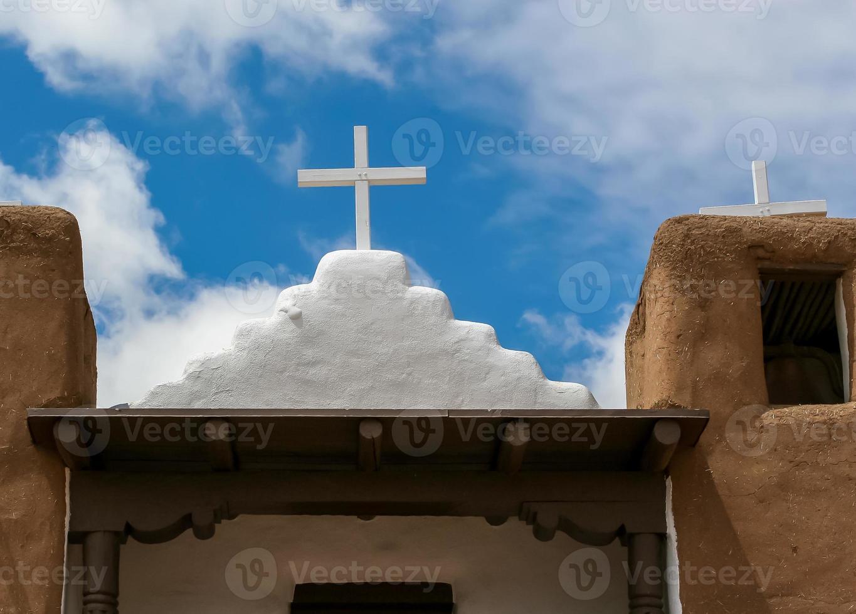 San Geronimo Kapelle in Taos Pueblo, USA foto