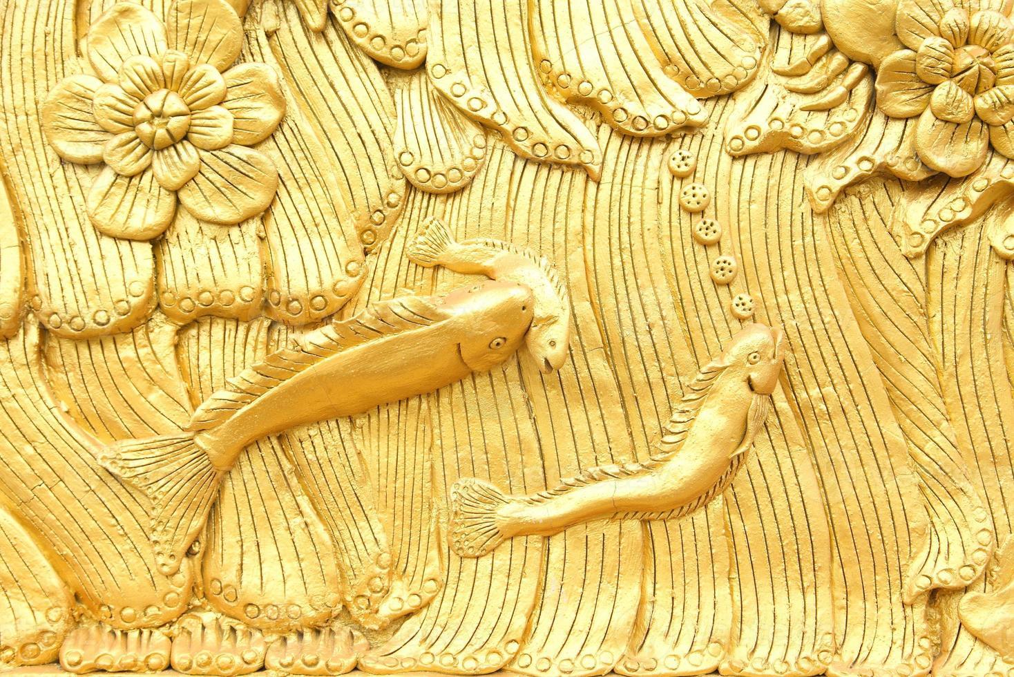 traditionelles Muster im thailändischen Stil, dekorativ im Tempel, Thailand. foto
