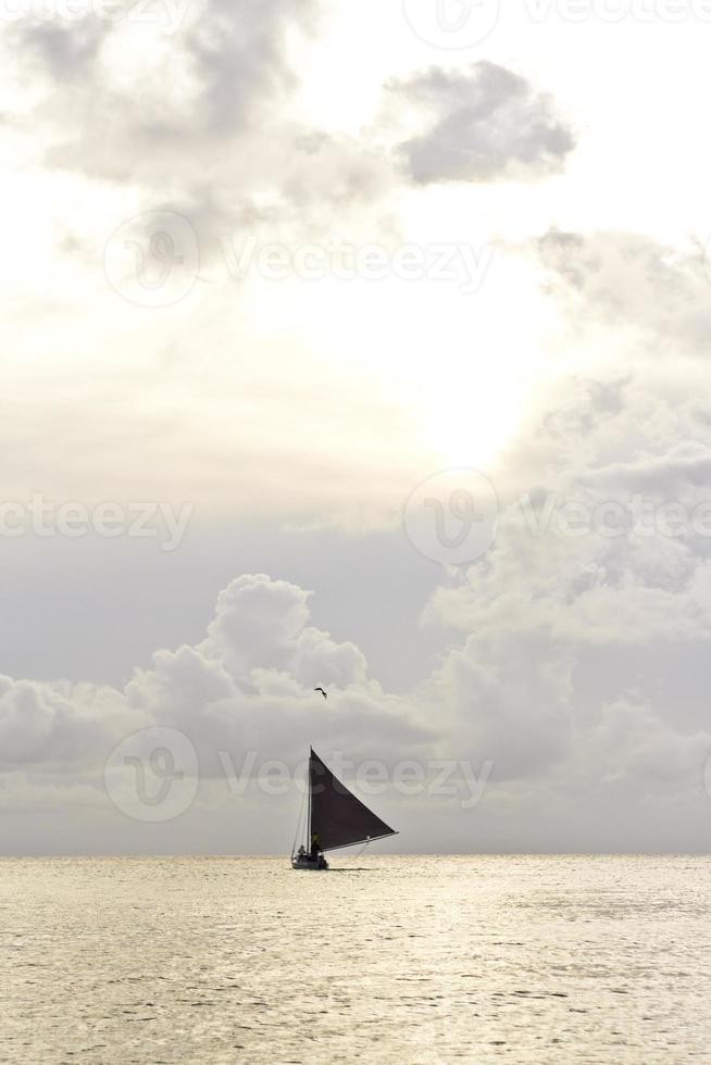 Schiff in der Karibik foto