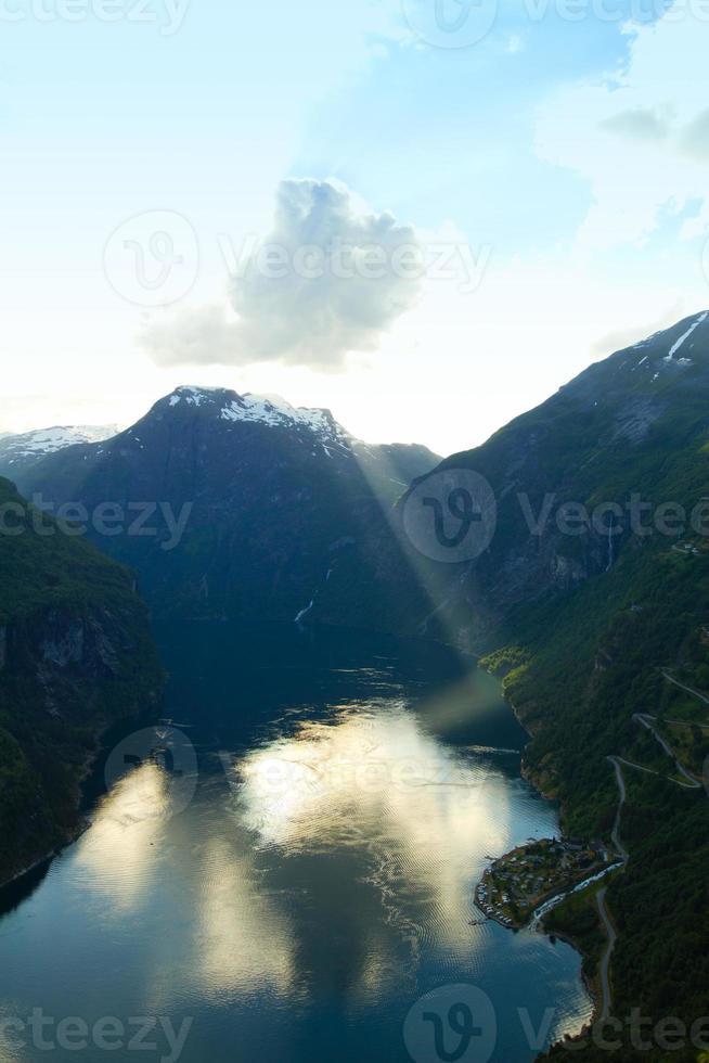 nordnorwegische Fjorde. foto